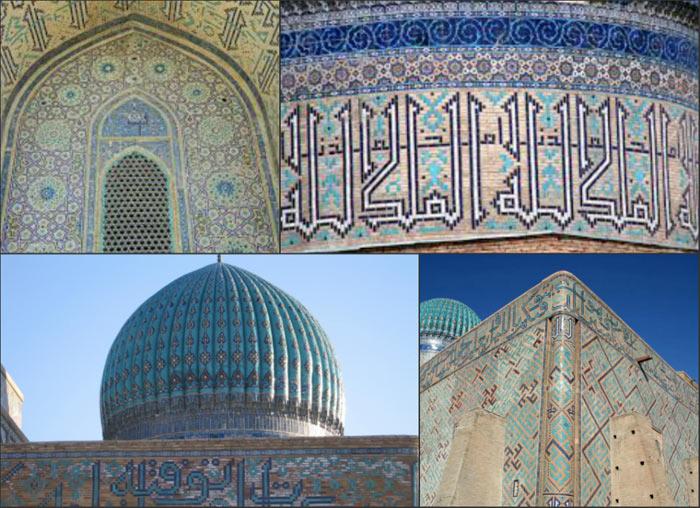 Tường của lăng mộ được trang trí bằng các bức tranh, nhũ đá, thạch cao.