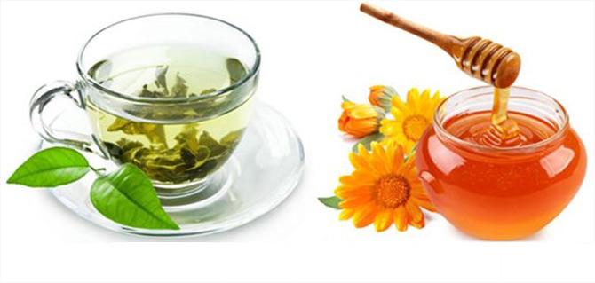 Công dụng của trà xanh pha mật ong
