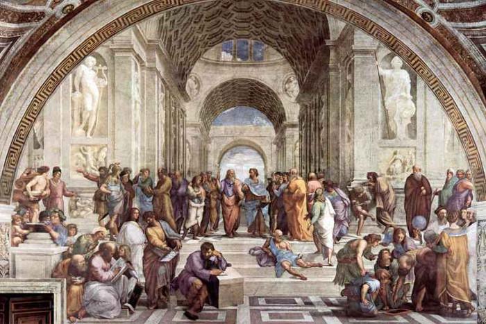 Bích họa mô tả trường học của Aristotle do họa sĩ Raphael vẽ năm 1509-1510.