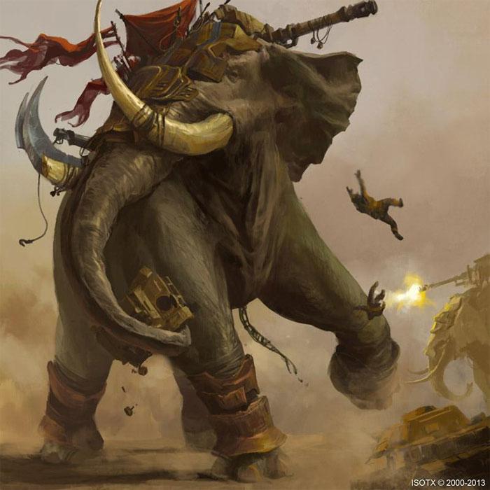 Sức mạnh của một con voi bằng hàng trăm người.
