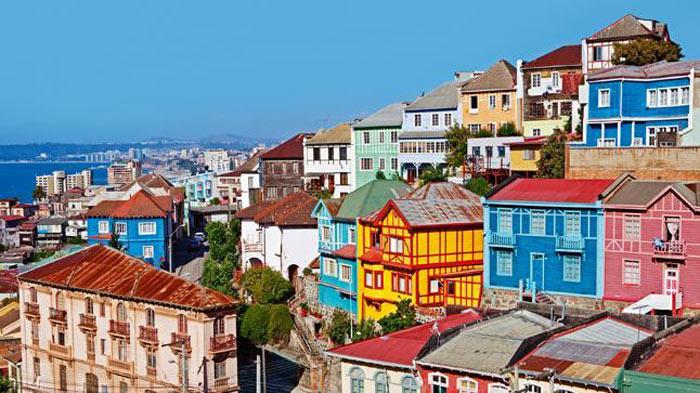 Ấn tượng đầu tiên khi đến thăm quan thành phố cảng Valparaiso đó chính là màu sắc.