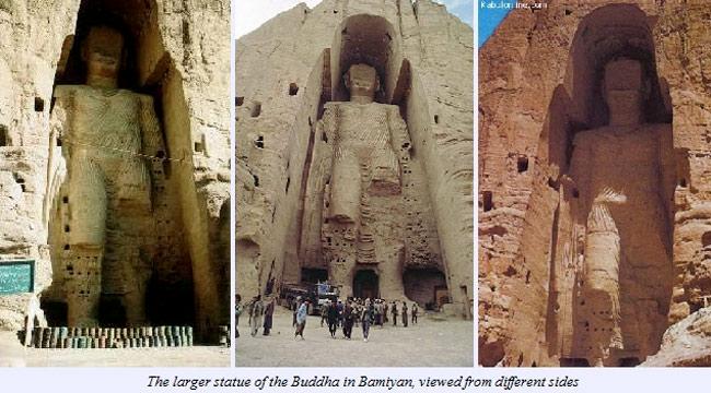 Bức tượng sau khi bị Taliban phá hủy