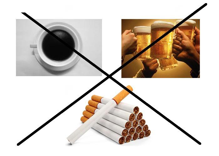 Để bảo vệ gan bạn không nên hút thuốc lá, uống rượu bia và các chất kích thích