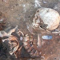 Phát hiện bộ hài cốt 7.000 tuổi chôn theo tư thế lạ