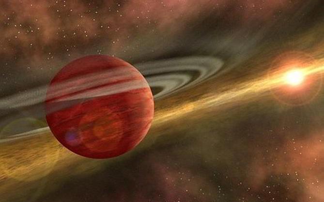 Hành tinh quay quanh ngôi sao Coku Tau 4, cách Trái Đất 420 năm ánh sáng.