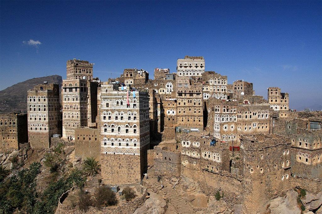 Một thị trấn nhỏ của Yemen với những nét kiến trúc cổ xưa.