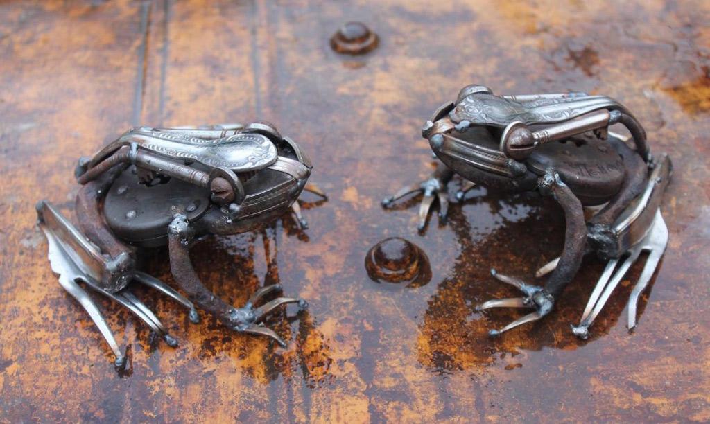 Hai con ếch độc đáo