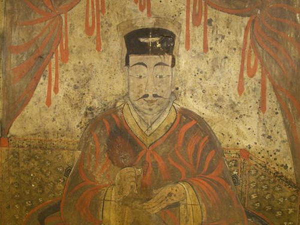 Tại những ngôi mộ có trang trí tranh tường