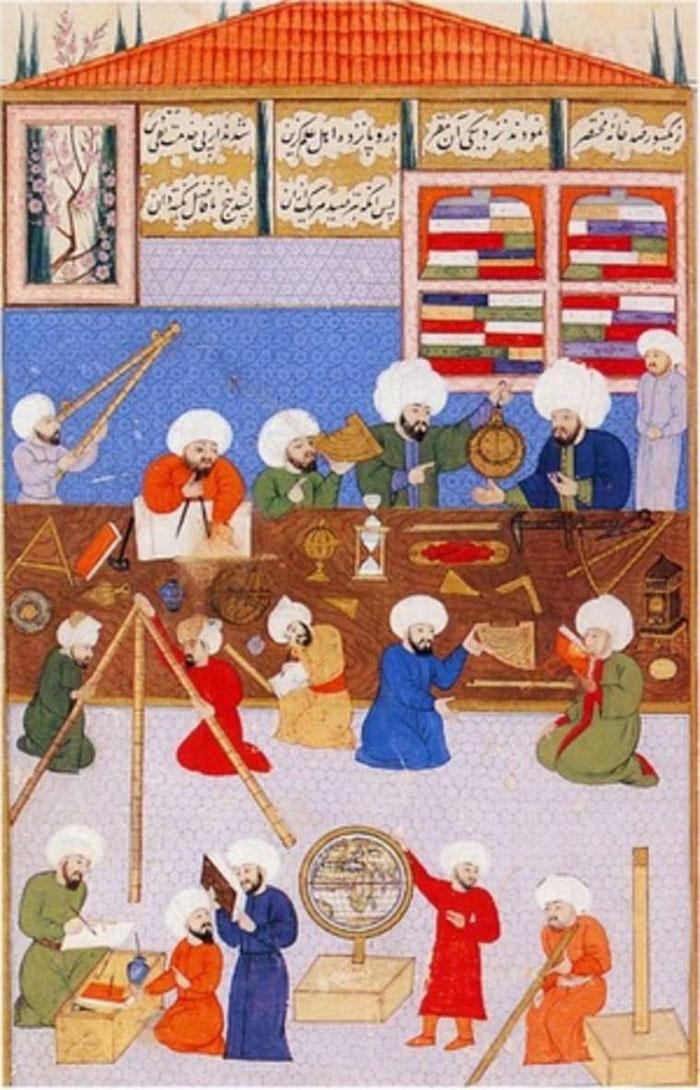 Hình vẽ các học giả Hồi giáo thời Trung cổ.