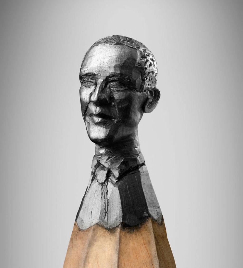 Bức tượng siêu nhỏ về tổng thống Mỹ Barack Obama.