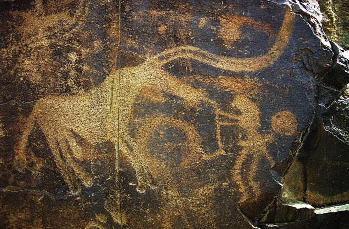 Chủ đề chính của tranh là hình ảnh về gia súc, động vật, các nghi lễ và một số ít hình ảnh về tôn giáo.