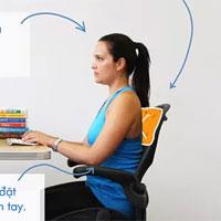 Tư thế ngồi chuẩn giúp làm việc cả ngày với máy tính mà không hề đau lưng