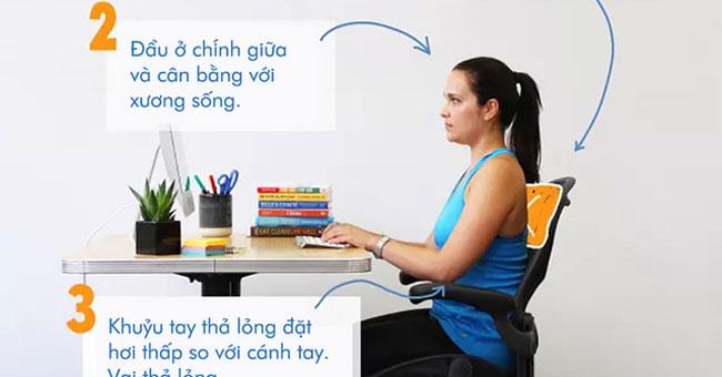 Sức khỏe đời sống-Tư thế ngồi chuẩn giúp làm việc cả ngày với máy tính mà không hề đau lưng