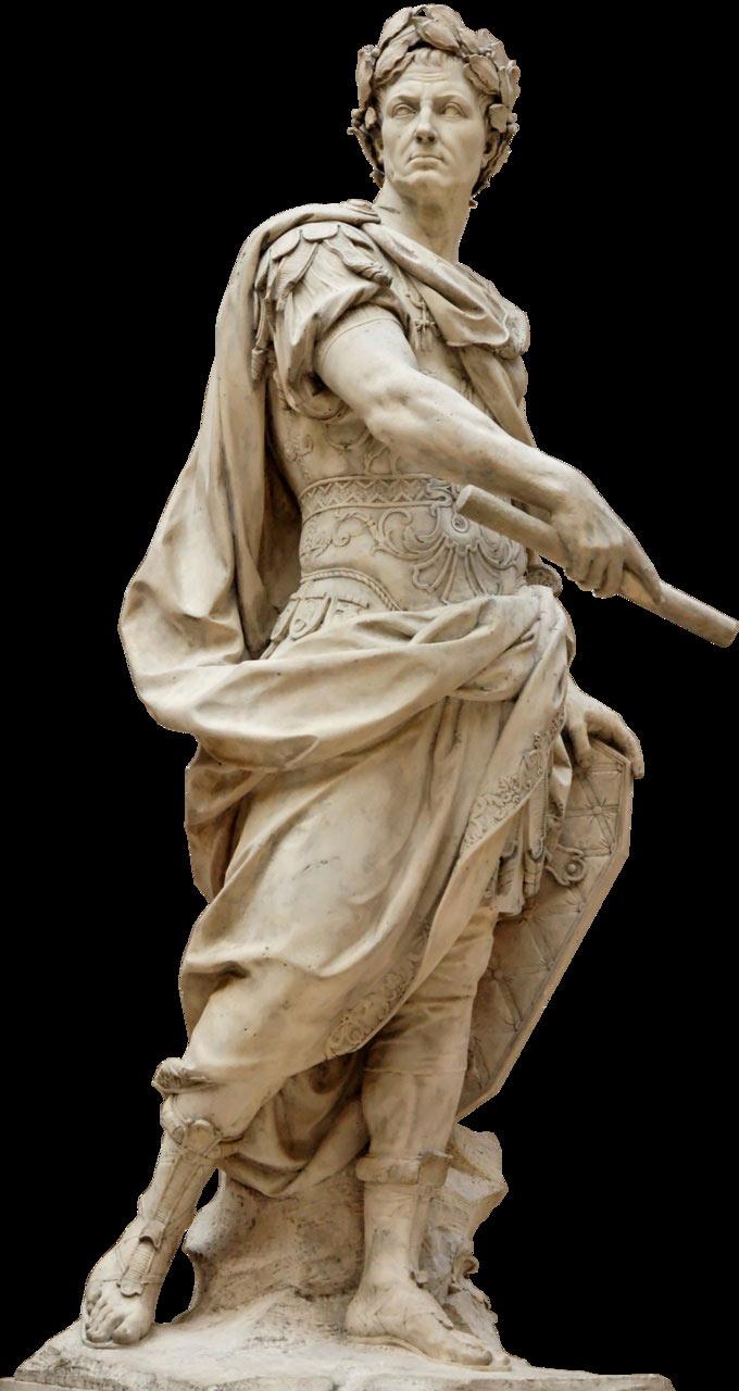 Julius Cesar - người chinh phục gần như toàn bộ Châu Âu thời bấy giờ.