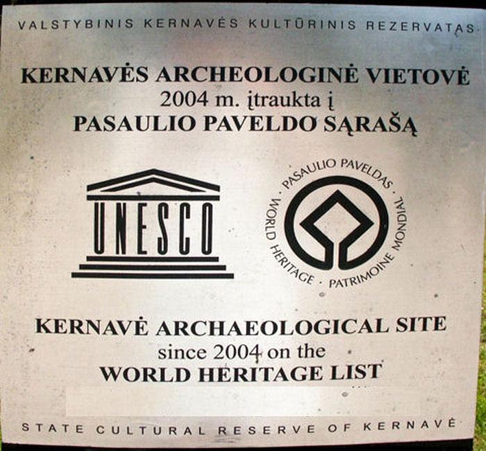 Khu vực di chỉ Kernavé đã được Unesco công nhận là di sản văn hóa thế giới của Litva