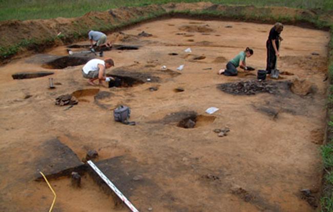 Các nhà khảo cổ tiến hành khai quật tại khu di chỉ