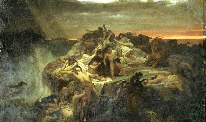 Trận đại hồng thuỷ đã nuốt chửng Atlantis.