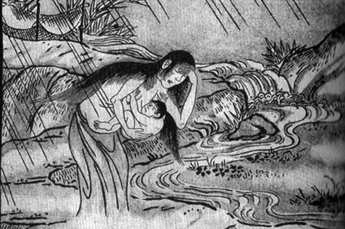 Truyền thuyết về quái vật Ubume bắt cóc trẻ em