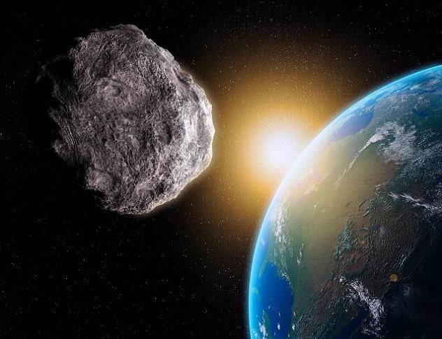 Một thiên thạch chuẩn bị lao vào khí quyển trái đất.