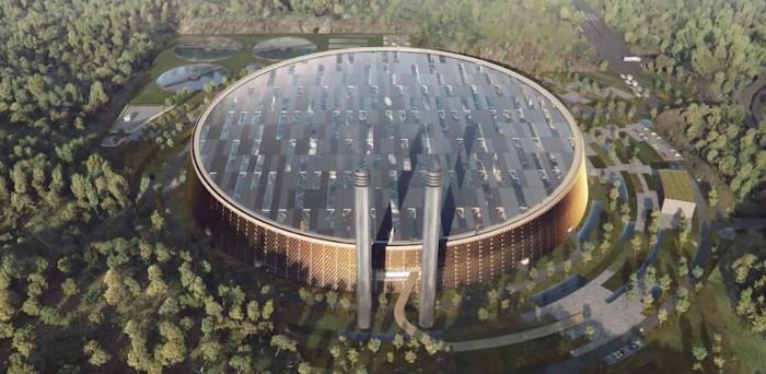 Thiết kế của nhà máy sản xuất điện từ rác thải lớn nhất thế giới ở Trung Quốc.