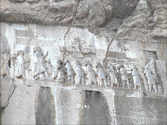 Bức phù điêu lớn được phát hiện tại di sản văn hóa thế giới, khu di chỉ khảo cổ Bisotun tại Iran cho thấy sự tài hoa của người Ba Tư cổ.