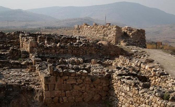 Khu vực khai quật tại bệ phóng Hazor