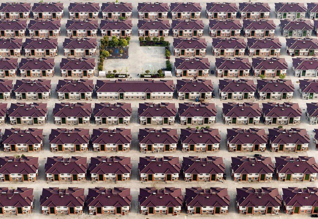 Nhà giống hệt nhau trong thành phố Jiangyin, Trung Quốc