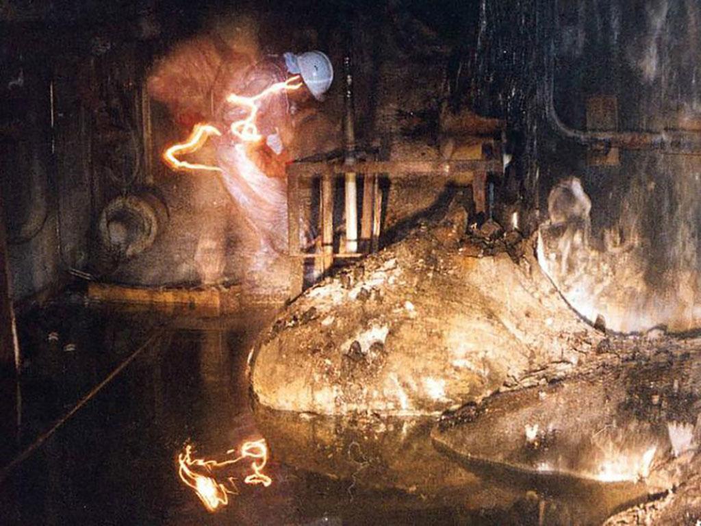 """Hạt nhân phóng xạ nóng chảy sau thảm họa Chernobyl, còn được gọi là """"chân voi"""""""