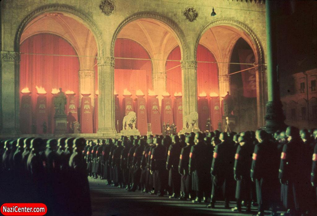 Lễ nhậm chức của quân đội Đức quốc xã SS tại Munich vào năm 1938