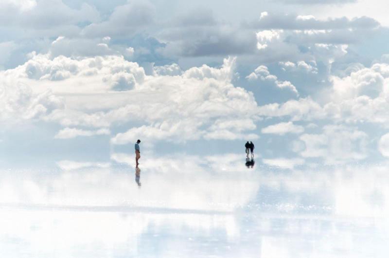 Trên mây.