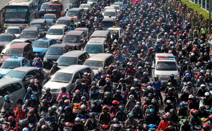Tắc đường kinh khủng ở Jakarta.