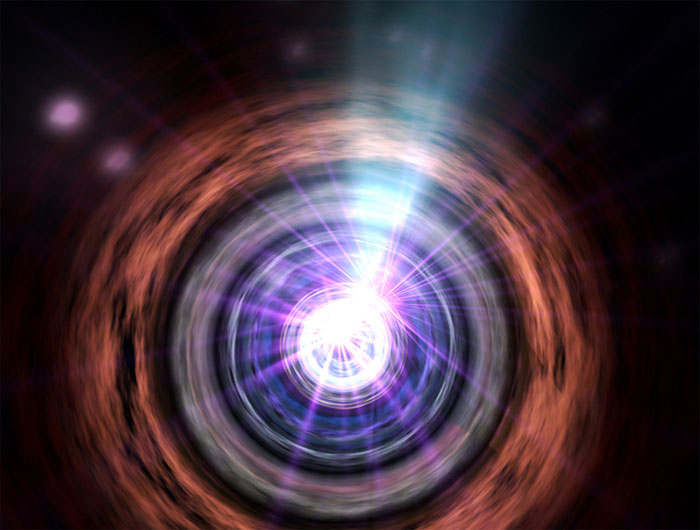Hố đen hút gần như mọi thứ từ môi trường xung quanh của nó, nhưng lại phát ra năng lượng dưới dạng tia gamma.