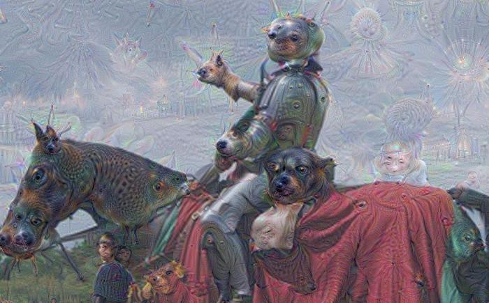Hình ảnh được tạo ra từ dự án trí tuệ nhân tạo Google Drea.