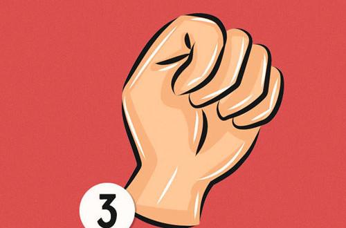 Khi nắm ngón cái bên trong các ngón tay chứng tỏ bạn là người dí dỏm, đôi khi hơi nhút nhát.