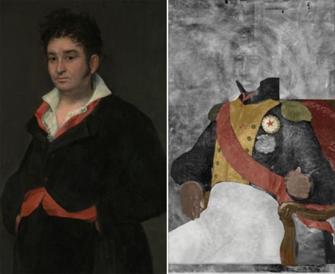Có lẽ Goya đã vẽ đè lên bức tranh cũ vì vẽ một vị tướng của thời vua cũ là quá nguy hiểm khi vua mới đã lên ngôi.