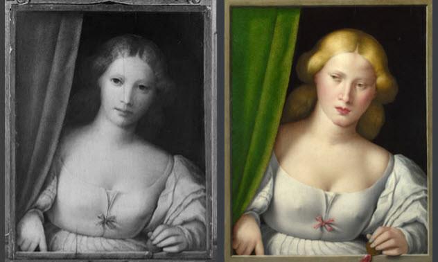 Một lần phục hồi tranh đã để lộ ra phiên bản đầu tiên được giấu bên dưới bức tranh.