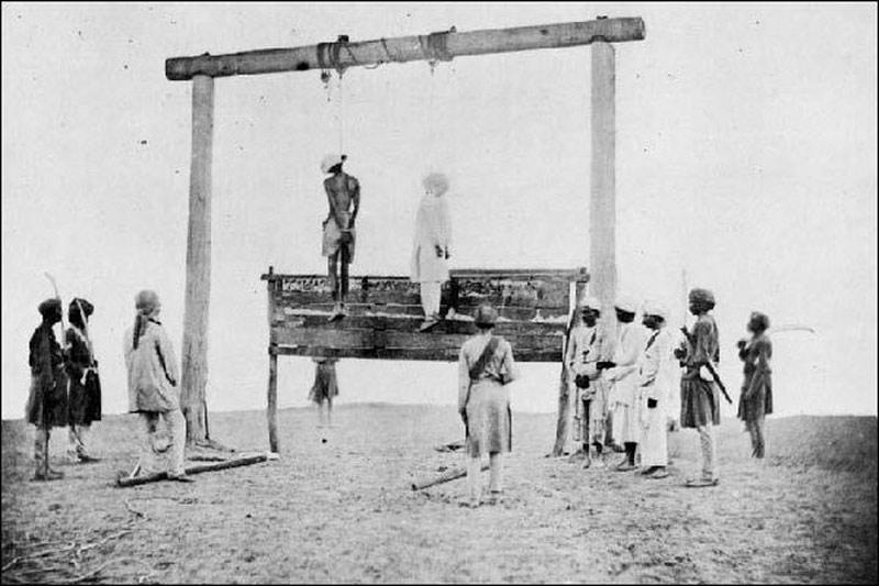 2 người Ấn Độ bị treo cổ ở Anh năm 1857