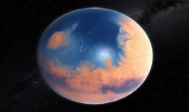 Đầu năm 2015, các nhà khoa học ước tính ít nhất 1/15 bề mặt sao Hỏa được bao phủ dưới lớp nước sâu 137m.