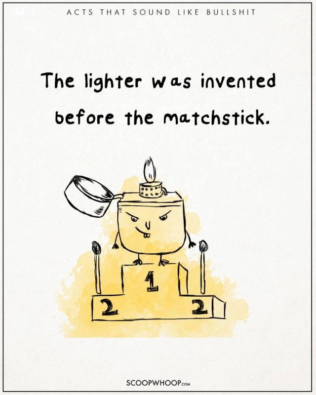 Bật lửa được phát minh trước que diêm