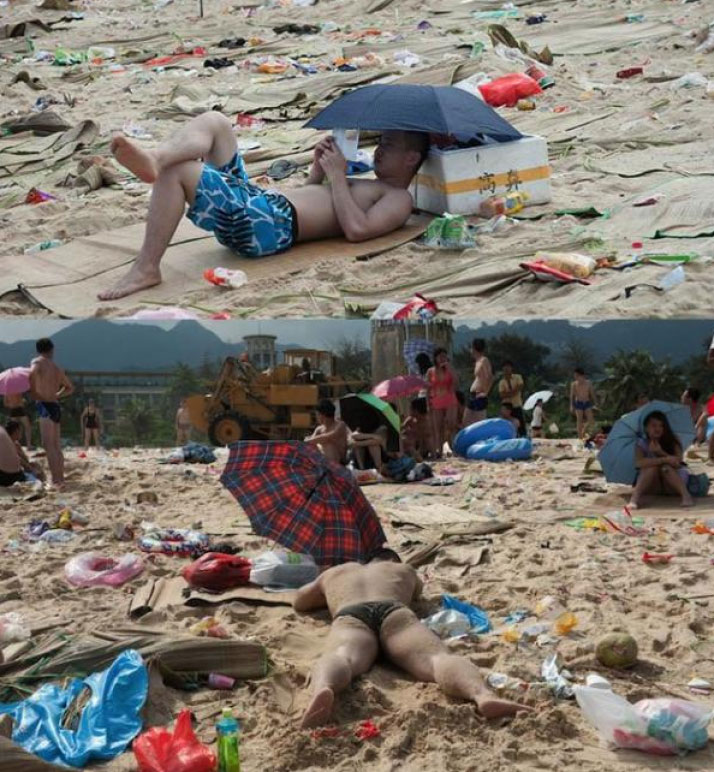 Với hơn 362 tấn rác thải, bãi biển này có lẽ là bãi biển bẩn nhất trên thế giới.