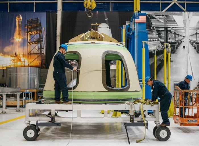 Khoang chở phi hành đoàn của tàu vũ trụ New Shepard.
