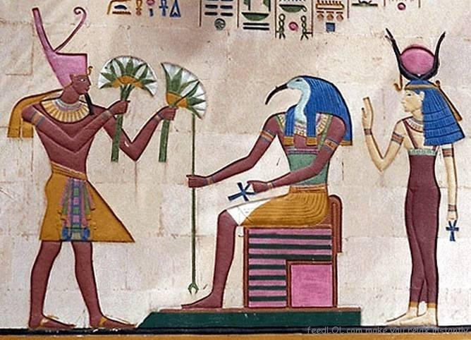Hoa sen là biểu tượng của Thượng Ai Cập và đại diện cho sự phục sinh của Isis.