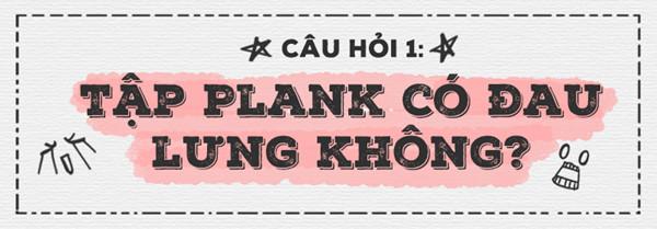 Plank là một trong những động tác ít gây đau lưng nhất