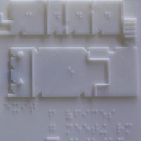 Bản đồ in 3D cho người khiếm thị