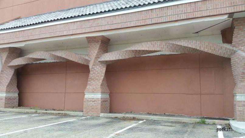 Những thanh ngang xoắn tại một nhà hàng mới xây