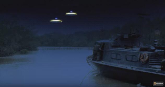 Năm 1968, hai tàu tuần tra trong giới tuyến quân sự giữa Bắc và Nam Việt Nam phát hiện một vài UFO ở gần họ.