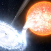 """Hố đen gần Trái Đất nhất đỏ rực khi """"ăn"""" sao"""
