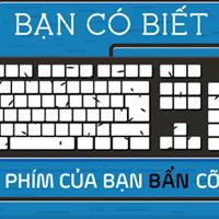 Bàn phím máy tính của bạn có khi còn bẩn hơn bồn cầu tới 400 lần?