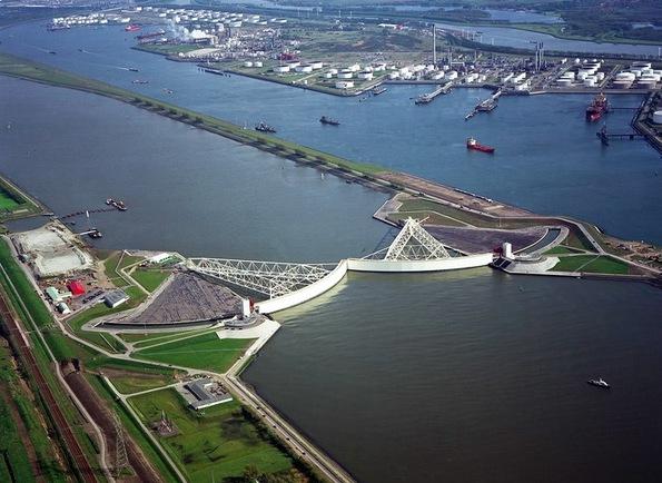 Phần lớn diện tích Hà Lan có nguy cơ ngập lụt.