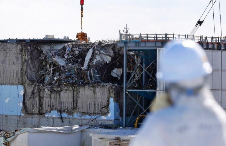 Khung cảnh nhà máy điện Fukushima Daiichi sau thảm hoạ.